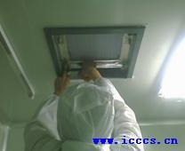 图6高效风口内壁粘贴铝箔胶带